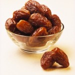 Fresh Medjoul Dates in Glass Bowl